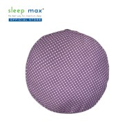 Sleep Max Floor Cushion/Bantal Lantai/Bantal Santai 57x57 Cm-Dot Ungu