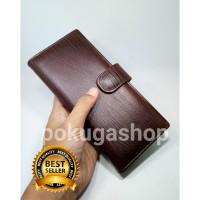 dompet kulit panjang premium serat kayu pria/wanita /asli kulit garut