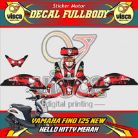 Stiker motor fino 125 fi decal FULLBODY YAMAHA FINO 125 HELLO KITTY