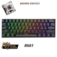Royal Kludge RK61 Mechanical Keyboard Wireless RGB 60% - Black