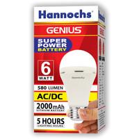 Lampu LED hannochs genius emergency / magic ac dc 6w 6 watt