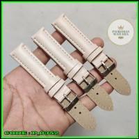 Strap Tali kulit leather jam Tangan Fashion Wanita 18mm Crame 518
