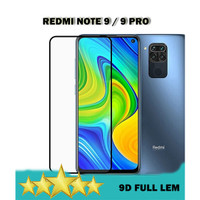 REDMI NOTE 9 PRO - TEMPERED GLASS 9D NOTE 9 FULL LEM