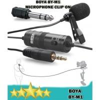 BOYA BY-M1 Lavalier Microphone Clip On DSLR / HP - Mic Clip On