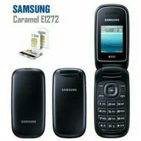 Samsung lipat flip Caramel GT-E1272 samsung hp murah Dual Sim - Hitam