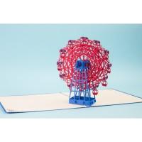 Buy 2 get 1 Free - Grand Ferris Wheel - 3D Kartu Ucapan Pop Up