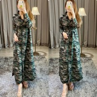 Gamis dress army ECL