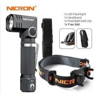 NICRON N7 FLASHLIGHT SENTER FULL SET LENGKAP Holder + Headmount