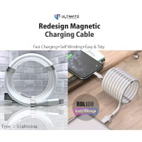 Ultimate Redesign Magnetic Cable Self Winding Lightning 1M RDL100