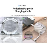 Ultimate Redesign Magnetic Cable Self Winding Micro USB 1M RDM100