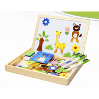 Magnetic Puzzle / Puzzle Magnet / Papan Tulis Magnet 2 in One - HEWAN