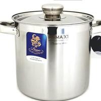 Bima Stockpot 30 cm Prima X1 Panci Tinggi Stainless 20 Liter Stock Pot