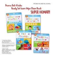 )Promo Beli 4 buku Ready Set Learn Wipe Clean Book Super Hemat!!