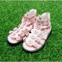 Sepatu Sandal Anak / Model Gladiator / Motif Bunga / Kids / Fashion