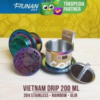 Vietnam Drip Sekrup 200ml Stainless Coffee Drip Rainbow Drat Conalli