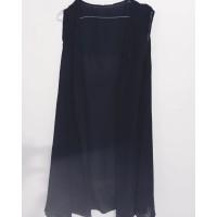 outerwear wanita hitam motif