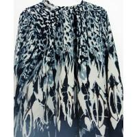 blouse wanita hitam motif