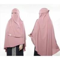 Jilbab Kerudung Hijab Syari Long Khimar Non Pet Bonus Niqab Bandana