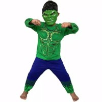 Kostum Baju Anak Superhero Model Hulk Free Topeng - 6