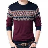 Sweater Pria Rajut Harfiz Maroon