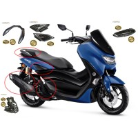 PAKET AKSESORIS 6 ITEM COVER CARBON NEMO YAMAHA NEW NMAX 2020
