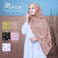 Pashmina Instant Moza Model Nissa Motif Bunga Aster Pashtan langsung