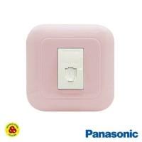 Panasonic Stop Kontak Telp 1G WEJ78019TN + Outlet WEJ2164 Pastel Pink