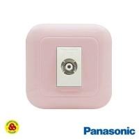 Panasonic Stop Kontak TV 1G WEJ78019TN + Outlet WEJ2501 Pastel Pink