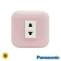 Panasonic Stop Kontak Universal 1G WEJ78019TN + WEJ10919 Pastel Pink