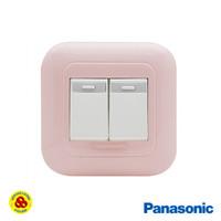 Panasonic Saklar Seri 2G 1W WEJ78029TN + WEJ5531 2 Gang Pastel Pink