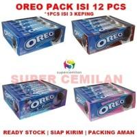 Oreo isi 12 Pcs | Vanilla - Cokelat - Strawberry - Blueberry | Biskuit