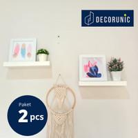 [Decorunic] Floating Shelf - Rak Dinding Minimalis ukuran 40, 40 cm