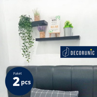 [Decorunic] Floating Shelf - Rak Dinding Minimalis ukuran 40, 60 cm