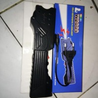 PREMIUM Stun gun setrum + flashlight Alat kejut listrik w2009