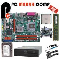 Paket Hemat Lengkap Motherboard LGA 775 G41 dengan processor E5200
