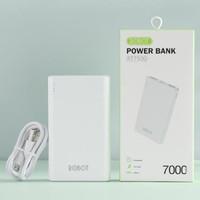ROBOT RT7500 DUAL INPUT & DUAL OUTPUT 700MAH POWER BANK WHITE ORIGINAL