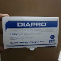 masker diapro earloop 3 ply, bukan sensi dan nexcare isi 50 pcs/ box.