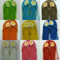 Sandal Sendal Mote variasi bunga Bali Cantik