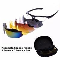 Kacamata Olahraga Sepeda dengan 5 Lensa Myopia