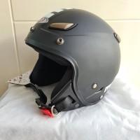 Helm JPN kawai momo hitam doff polos