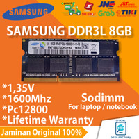 RAM LAPTOP SAMSUNG DDR3L 8GB SODIMM 1600Mhz PC12800 DDR3 MEMORY ORI