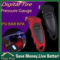 Pengukur tekanan ban mobil digital tire pressure gauge Alat Ukur - Hitam