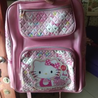 tas ransel backpack anak sekolah sd hello kitty ori made in taiwan
