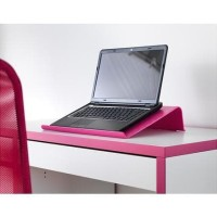 IKEA BRADA, Alas Laptop, Merah Muda