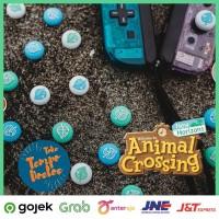 Animal Crossing Joycon Thumb Grip Nintendo Switch Silicone Silikon - Biru Muda