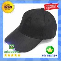 Topi Baseball Cap with 5 LED Light - Hitam