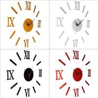 DIY Interior Roman Wall Clock Wall Clock 3D Sticker Home