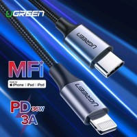 UGREEN Kabel Charger MFi USB-C to Lightning Power Delivery Fast Char
