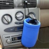 Penghangat Botol Susu Bayi Portable Warna Biru untuk Travel