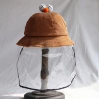 Topi Pelindung Topi Nelayan Anak Corona Virus Face Leher Cap